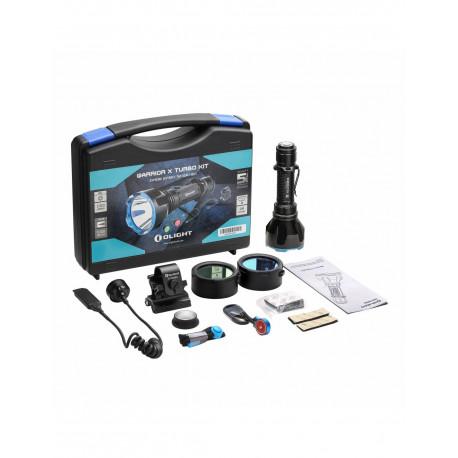 Kit de caza linterna LED recargable Warrior X Turbo 1.100 lum. Olight