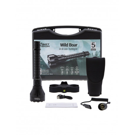 Linterna LED Bat Vision Wild Boar con kit de caza